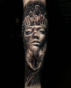 "Explore creative board ""Egyptian Tattoos"" on creativetatto. See more ideas about Egyptian tattoo, Tattoos and Egypt tattoo. Egyptian Queen Tattoos, Egyptian Symbol Tattoo, Egyptian Tattoo Sleeve, Egyptian Symbols, Egyptian Pharaohs, God Tattoos, Body Art Tattoos, Script Tattoos, Arabic Tattoos"