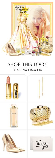 """""""Thank You! Took 1st Place"""" by brenda-joyce ❤ liked on Polyvore featuring Dennis Basso, WALL, MDMflow, KC Designs, Salvatore Ferragamo, Chicnova Fashion and Gianvito Rossi"""