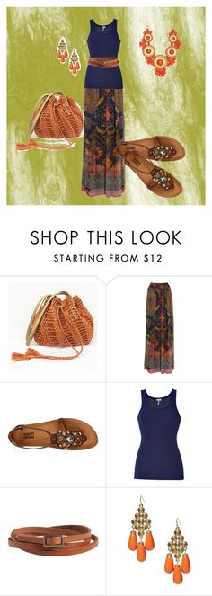 """Tribal Maxi Skirt"" by squalls ❤ liked on Polyvore featuring Etro, Kalso Earth Shoe, Splendid, Pieces, Banana Republic and maxi skirt"