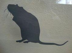 Halloween window cling  Spooky Halloween rats by NipomoImprints, $10.00