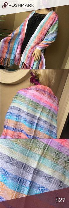 New Mexican Scarf Ethnic Design Striped Multicolor Brand new! Super cute colorful scarf / wrap. Soft material. Tribal / Ethnic Design. Cielito Lindo Accessories Scarves & Wraps