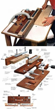 Micro-Adjustable Router Fence - Router Tips, Jigs and Fixtures | WoodArchivist.com #WoodworkingIdeas