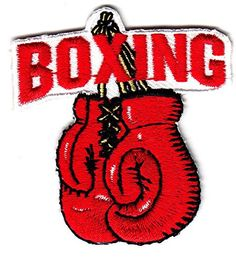 """"""" BOXING"""" GLOVES PATCH - Iron On Embroidered Applique Patch-Boxer, Sports Lois7701 http://www.amazon.com/dp/B012HOEZ1G/ref=cm_sw_r_pi_dp_QVPewb08A9760"""