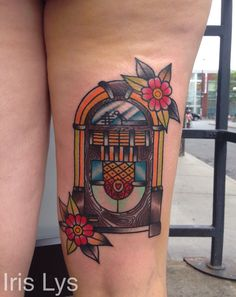 Traditional jukebox tattoo