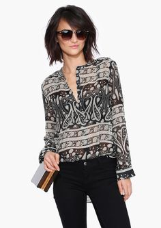 Paisley Blouse in Black |
