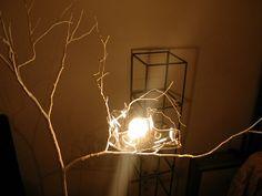 """""""little bird"""" - lamp - recicled materials"""