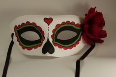 Day of the dead mask. Frida Kahlo inspired. by CamillaLimon, $35.00