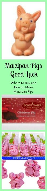 When you give a Marzipan Pig, you are insuring someone good luck for the year. History, how to make & Where to buy Marzipan pigs! How To Make Marzipan, German Christmas, Photo Memories, Good Luck, Holidays And Events, Pigs, Food Processor Recipes, German Recipes, Yule
