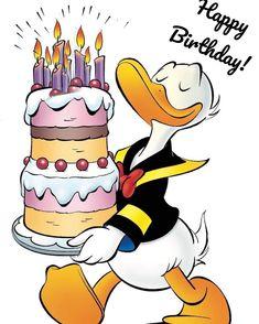 happy birthday wishes Donald Duck Disney Happy Birthday Images, Birthday Images For Men, Birthday Images Funny, Happy Birthday Wishes Cards, Happy Birthday Pictures, Happy Birthday Funny, Birthday Quotes, Dallas Cowboys Happy Birthday, Donald Duck