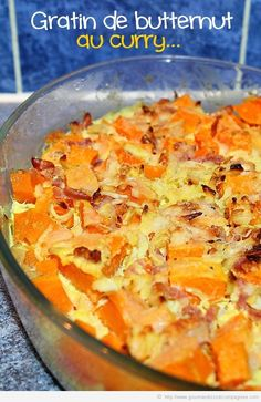 Gratin de butternut au curry Fruit Recipes, Veggie Recipes, Vegetarian Recipes, Healthy Recipes, Easy Diner, International Recipes, Easy Cooking, Food Preparation, Food Inspiration
