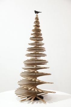 In celebration of all things festive, the Design Museum in London commissioned designer Giles Miller to create a bespoke cardboard Christmas tree.