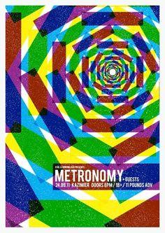 Metronomy Concert Poster by Gary McGarvey