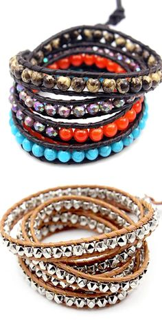 Florence Scovel has the most fashionable and unique collection of wrap bracelets. All piece we offer are hand-crafted. We are certain that you'll love our collection and find some which are perfect for you. tattoos sleeve tattoos for men tattoos maori Bracelet Crafts, Jewelry Crafts, Jewelry Art, Beaded Jewelry, Jewelry Design, Silver Jewelry, Beaded Wrap Bracelets, Handmade Bracelets, Chakra Jewelry