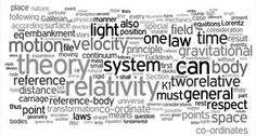 Ptak Science Books: Wordle Word Art: Einstein 1920 and Poincare ...