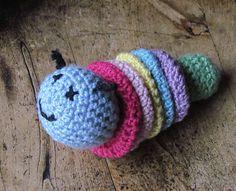 Caterpillar Baby Toy: free pattern