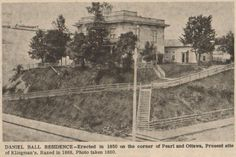 Daniel Ball residence at Pearl & Ottawa built in 1850 - photo: 1860