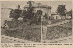 Daniel Ball residence at Pearl & Ottawa built in 1850 - photo: 1860
