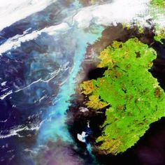 Plankton Bloom visible form space (West coast of Ireland)