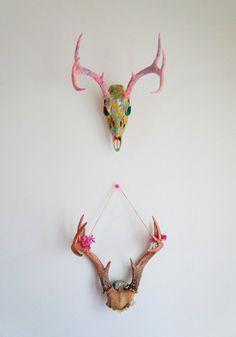 Marbled Deer Skull