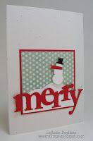Merry Monday Christmas Card Challenge - PTI - Snowman