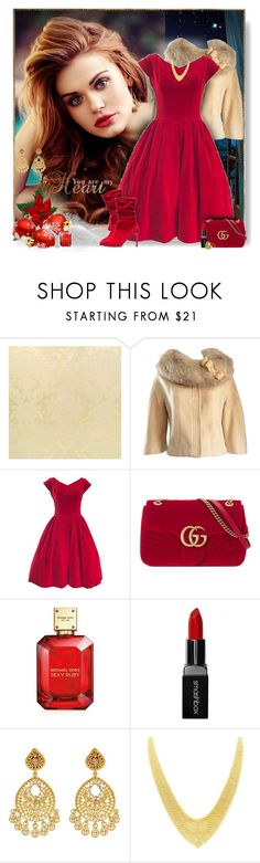 """""""A wonderful christmas time"""" by perla57 ❤ liked on Polyvore featuring Lilli Ann, Gucci, Michael Kors, Smashbox, Amrapali, Tiffany & Co. and Paul Frank"""