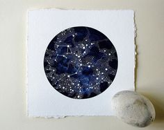 Imaginary Star Chart Original Painting (Large) © Natasha Newton 2011