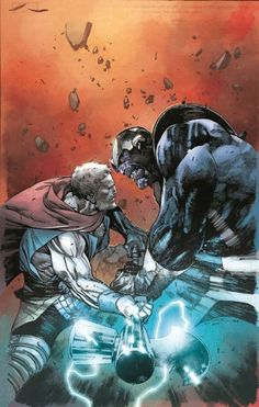The Unworthy Thor - Marvel Comics Thanos Marvel, Odin Marvel, Marvel Vs, Marvel Heroes, Avengers Comics, Marvel Comics Art, Marvel Comic Universe, Comic Books Art, Comic Art