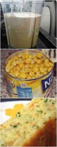 Bolo salgado de milho é fácil de fazer e faz sucesso por que é uma delícia, veja a receita #bolodemilho #milho