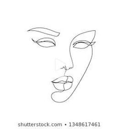 abstract face one line drawing. Beauty Woman Portrait minimalistic style #drawing #drawingideas Female Portrait, Woman Portrait, Cactus Drawing, Tattoo Zeichnungen, Abstract Faces, Woman Drawing, Line Drawing, Inktober, Style Minimaliste