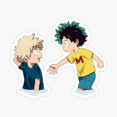 When Bokugou and Midoriya were friends as kids. And when Bakugo fell in the water Midoriya tried to reach out to help. It was such a cute moment. Buy any 4 and get off Buy any 10 and get off – Pop Stickers, Anime Stickers, Kawaii Stickers, Printable Stickers, Dibujos Anime Chibi, Homemade Stickers, Otaku, Journal Stickers, Wallpaper Iphone Cute