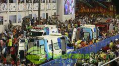 Carnaval de Río: 8 heridos al despistarse una enorme carroza