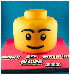 Lego Head Birthday Cake by Andrea Hillman, via Behance