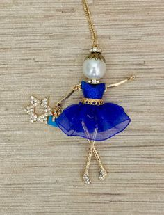 French doll pendant French doll necklace Hanukkah jewelry Holiday Jewelry Star of David. Great holiday or Bat Mitzvah gift!
