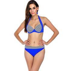Women #Swimsuit Summer #Beach Halter Push Up #Bikini Set Plus Size Bathing Suit in #Australia  #bathingsuit #bikiniset #red #plussize #lingerie #fashion #onlineshopping #freeshipping #sydney #summer #girls #love #shopping #sexy Sexy Bikini, Push Up Bikini, Bikini Swimwear, Bikini Set, Summer Swimwear, Women Bikini, Halter Tops, Unique Swimsuits, Women Swimsuits