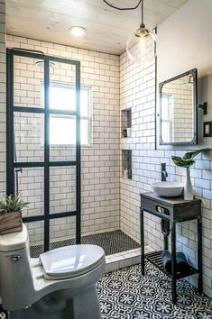 80 best farmhouse tile shower ideas remodel (44)