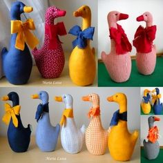 Bird Crafts, Diy And Crafts, Door Stop, Sewing Toys, Softies, Orchids, Dinosaur Stuffed Animal, Projects To Try, Easter