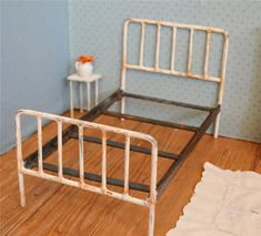 Metal Doll Bed Retro Style Blythe Doll Bed by dreamcometruebeds