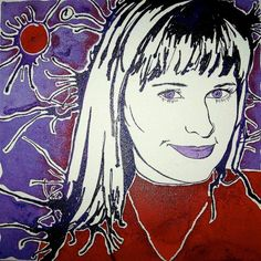 commissioned pop art portraits of your loved ones. www.gohannahstone.com