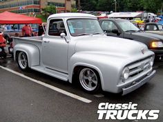 2009 Ford F-100 Supernationals - Hot Rod Network 56 Ford Truck, Ford Pickup Trucks, Hot Rod Trucks, Old Trucks, Classic Trucks, Classic Cars, 1953 Ford F100, Vintage Trucks, Cars Motorcycles