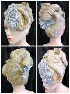 Nytårs opsætning / galla opsætning Udført af Puk/Rock Your Hair Blond, updo, curls, New Year, galla, glitter, krøller.
