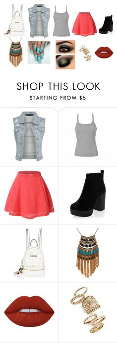 """""""back to school"""" by beau-ward ❤ liked on Polyvore featuring Ally Fashion, LE3NO, New Look, River Island, Leslie Danzis, Lime Crime and Topshop"""