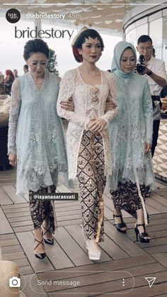 Model Kebaya Brokat Modern, Kebaya Modern Hijab, Kebaya Muslim, Muslim Dress, Dress Brokat Modern, Kebaya Wedding, Muslimah Wedding Dress, Javanese Wedding, Indonesian Wedding