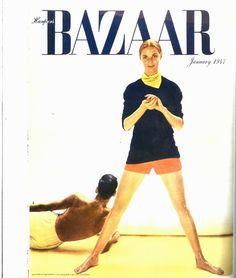 Richard Avedon's January 1947 Harper's Bazaar cover