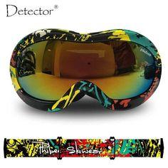 Detector 2016 Kids Double Anti-Fog UV400 Protection Ski Goggles Boys Girls Snowboard Ski Glasses Winter Snow Sports Googles