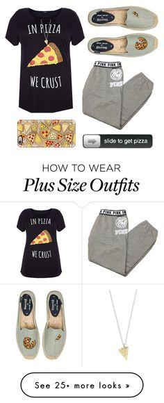 """pizza"" by thoughtandfashion on Polyvore featuring Soludos, Casetify, Victoria's Secret, women's clothing, women, female, woman, misses and juniors"