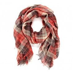 Sole Society - Plaid Scarf - Red