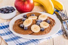 pancakes protéinés, pancakes banane chocolat, recette pancakes, recette diététique