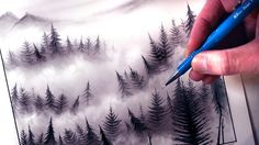 6:56 How to Draw a Misty Forest Landscape