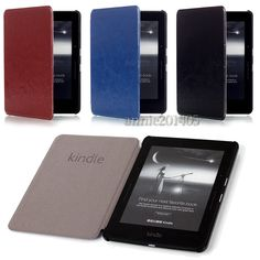 Advanced New Luxury Leather Case Cover for Amazon Kindle Voyage 6inch Ereader