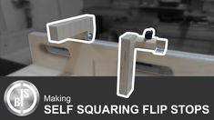 This flip stop blocks for my small cross cut sled, is something I wanted to make for a long time. The construction is the same, as the flip sto. Woodworking Jigs, Woodworking Projects, Cross Cut Sled, Square Tool, Miter Saw, Circular Saw, Work Tools, Table Saw, Flipping